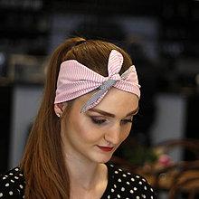 Ozdoby do vlasov - Vintage šatka do vlasov Fine stripes - 10259445_