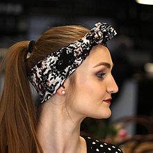 Ozdoby do vlasov - Vintage šatka do vlasov Elegance - 10259465_