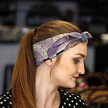 Ozdoby do vlasov - Vintage šatka do vlasov Dusty purple - 10259467_