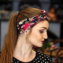 Ozdoby do vlasov - Vintage šatka do vlasov Kvetinová - 10259470_