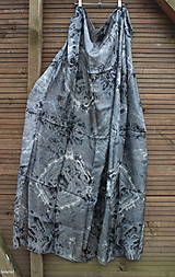 silk scarf_hodvábne šatka_pareo_black_čierna
