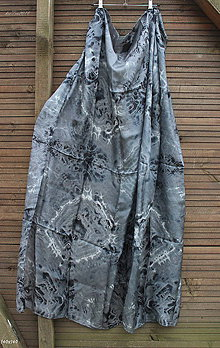 Šatky - silk scarf_hodvábne šatka_pareo_black_čierna - 10259074_