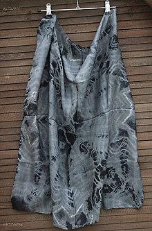 Šatky - silk scarf_hodvábna šatka_black_čierna - 10259077_