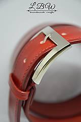 Opasky - Dámsky kožený ručne šitý opasok Klasik - 10259073_