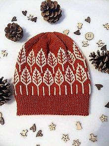 Čiapky - Čiapka pletená škorica - 10259287_