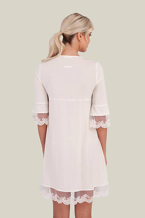 Dámska nočná košeľa s krajkou z organickej bavlny