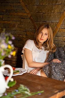Pyžamy a župany - Dámska nočná košieľka z organickej bavlny (S natural) - 10259511_