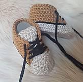 Topánočky - Hnedobéžová tenisky - 10260259_