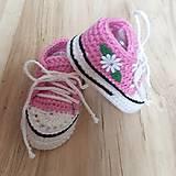 Topánočky - Tenisky s kvetinkou - 10260440_