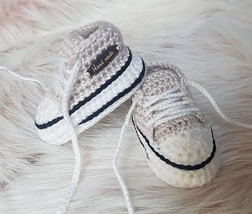 Béžové tenisky   dominikita - SAShE.sk - Handmade Topánočky 3018ad7f4d