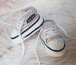 Topánočky - Béžové tenisky - 10260306_