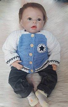 Detské oblečenie - Modrý svetrík - 10260483_