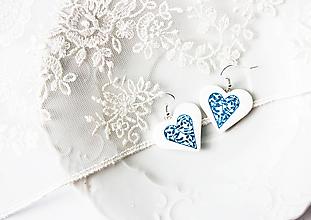 Náušnice - Náušnice srdce - 10260394_