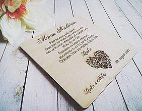 Darčeky pre svadobčanov - Poďakovanie pre rodičov - 10260824_