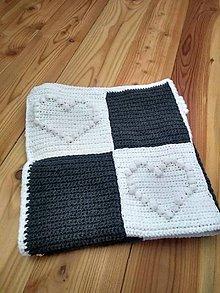 Textil - Háčkovaná deka MERINO - 10260366_