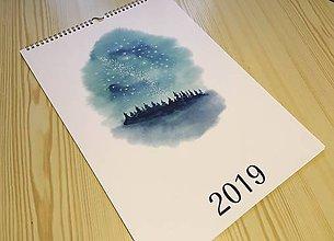 Papiernictvo - Maľovaný kalendár 2019 - 10260738_