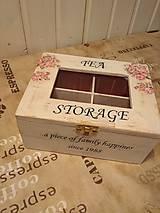 Dekorácie - TEA BOX Biely - 10260025_
