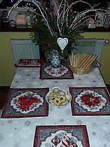 Úžitkový textil - Prestieranie vianočné - podložky - 10260822_