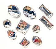Korálky - Našívacie kamienky ❃STRIEBORNÉ❃ --- balíček 10 kusov --- - 10260565_