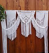 Iné doplnky - Macrame svadobny obluk - 10260841_