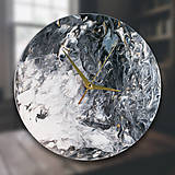 Hodiny - Drevené dekoračné hodiny - Black Splash - 10260812_