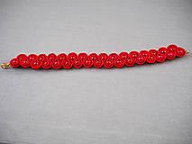 Náramky - Červený prepletaný náramok - 10260264_