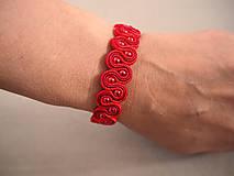 Náramky - Červený prepletaný náramok - 10260265_