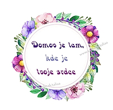 Grafika - Citát ♥ DOMOV - 10260072_