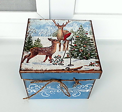Krabičky - vianočné ráno v lese - 10259826_