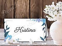 Papiernictvo - Menovky s modrými kvetmi - 10262238_