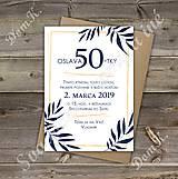 Papiernictvo - Pozvánka na oslavu jubilea pre muža (Variant 1) - 10262264_