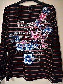 Tričká - Ručne maľované tričko - 10262560_