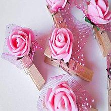 Pierka - ružičkové štipčeky - 10261201_