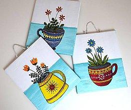 Obrázky - Obrázky-Kvety v šáločkách-sada - 10261197_