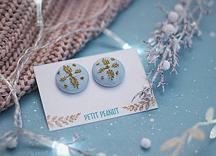 Náušnice - Buttonky s výšivkou - lístky - 10262553_