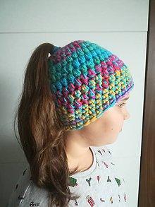 Čiapky - čiapka pre culíkaté holky - 10261444_