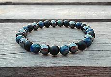 Šperky - Náramok - fenix, ónyx, hematit - 10261055_