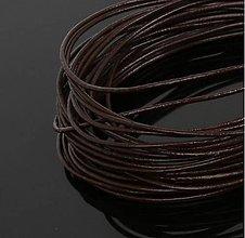 Galantéria - SK101 Šnúrka kožená guľatá 1 mm (Hnedo čierna) - 10261202_