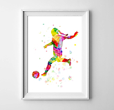 Grafika - Futbalistka - 10261094_