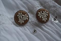 Náušnice - Napichovacie náušnice Natural - 10261633_
