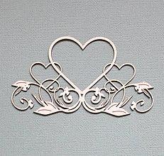 Polotovary - Výrez z lepenky - srdce - 10262338_