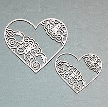Polotovary - Výrezy z lepenky - srdcia - 10262342_
