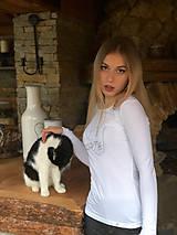 Tričká - Dámske tričko z organickej bavlny RUKY dlhý rukáv - 10262620_