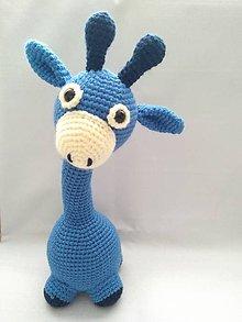 Hračky - Modrá žirafka - 10261621_