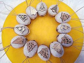 Dekorácie - Vianočné ozdoby, dekorácie - oriešky. - 10262572_