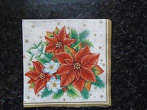 Papier - vianočná ruža - 10262106_