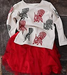 Detské oblečenie - tylová červená (vel.116) - 10262937  ad6a2f2f3a4