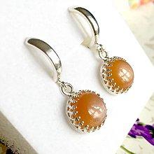 Náušnice - Vintage Filigree Natural Sunstone Earrings / Filigránové náušnice s prírodným slnečným kameňom /1377 - 10263569_