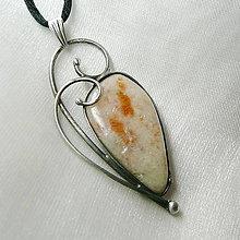 Náhrdelníky - Prívesok so slnečným kameňom ☼ FLORE ☼ - 10263825_