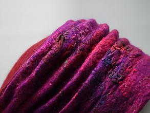 Čiapky - Plstená skladaná čiapka-červená - 10264556_